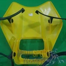 mascherina porta faro gialla con gommine