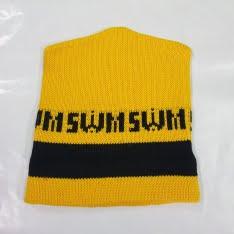 cappellino di lana swm giallo