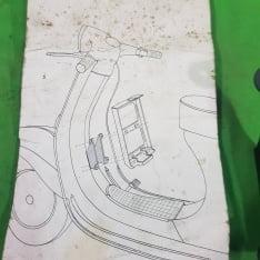 supporto anteriore piaggio vespa 50